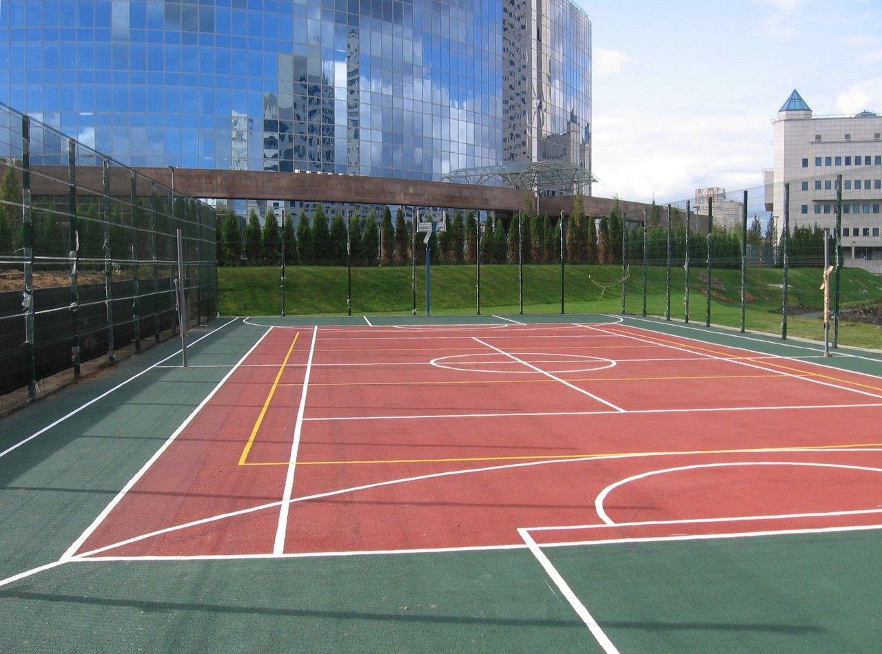 Покрытия для спортивных и игровых площадок. Укладка спортивных покрытий