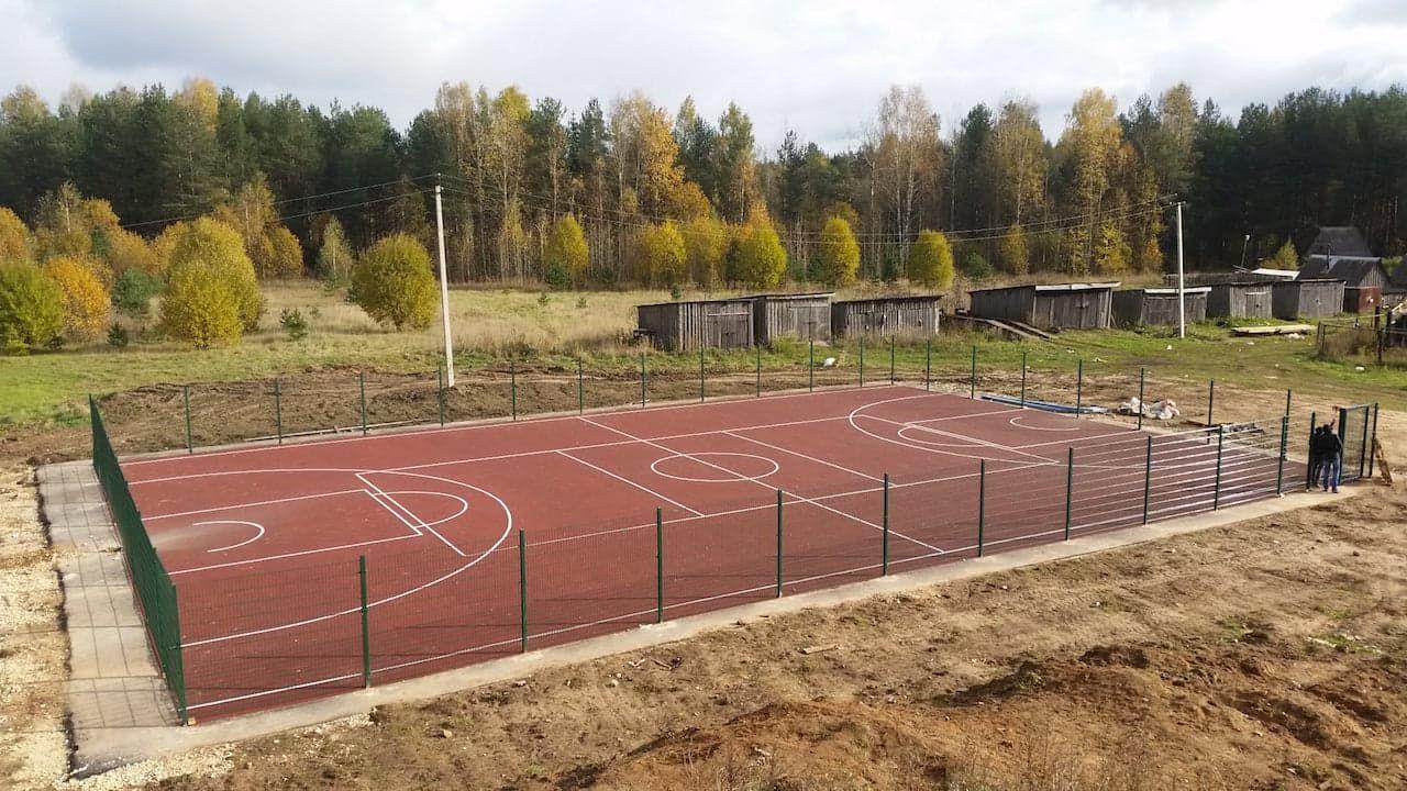 Многофункциональные спортивные площадки фото